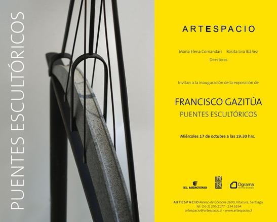 Francisco Gazitúa, Puentes escultóricos