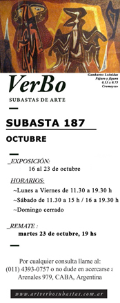 Subasta 187 - Octubre