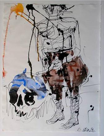 Georg Baselitz, Big Night -remix-, 2008