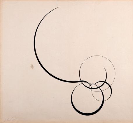 Sin título, década de 1950. Tinta, pluma y pincel sobre papel, 420 x 460 mm