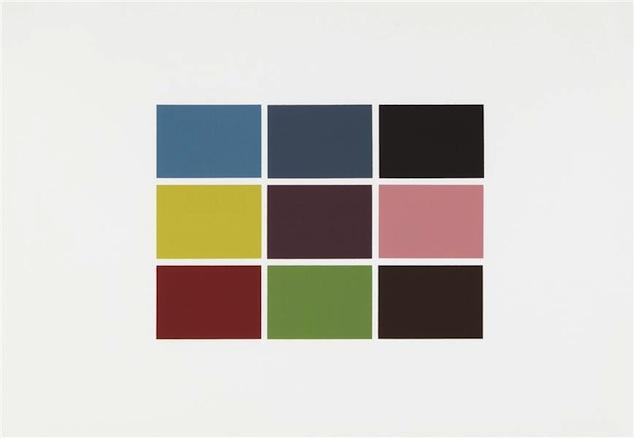 Gerhardt Richter. 9 von 180 Farben, 1971. Serigrafía. 61 x 86 cm. Ed. 7190