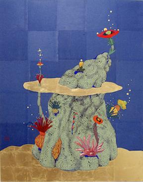El origen del deseo. El principio de los valores. 2012 Pigments with Nikawa glue