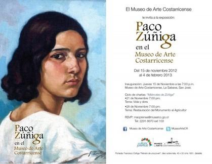 Paco Zúñiga en el Museo de Arte Costarricense