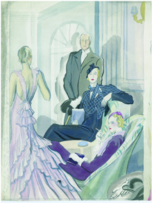 Carlos Sáenz de Tejada, La elegancia del dibujo, crónica de París
