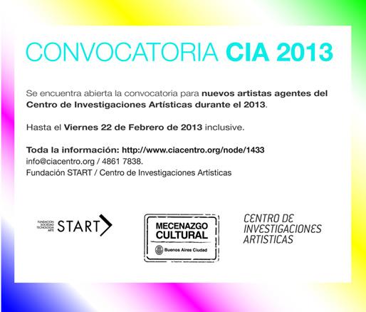 Convocatoria CIA 2013