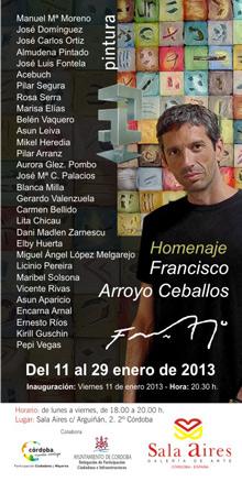 Homenaje a Francisco Arroyo Ceballos