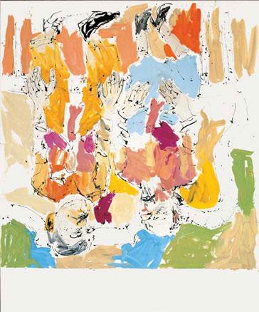 George Baselitz, La Sra. Lenin y el Ruiseñor -detalle-, 2008