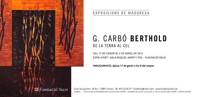G. Carbó Berthold, De la terra al cel