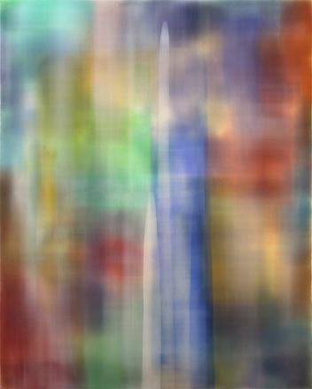 Sin título 25S, 2007-12. Acrílico sobre lienzo. 240 x 193 cm