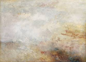 William Turner, Stormy see with dolphins, hacia 1835-40
