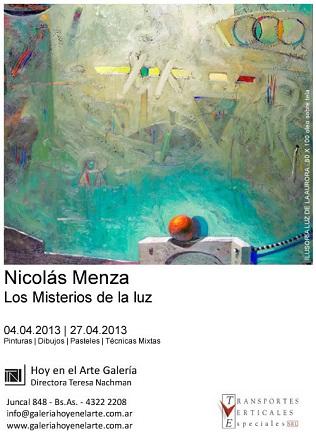 Nicolás Menza, Los Misterios de la luz