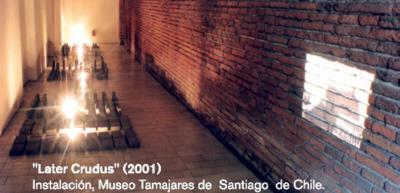 Later Crudus, 2001. Instalación en el Museo Tamajares de Santiago de Chile