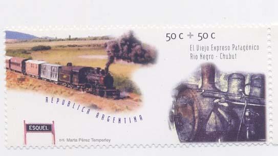 Estación Marta Pérez Temperley, el ferrocarril y el grabado