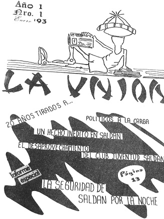 Primera portada de Revista La Unión