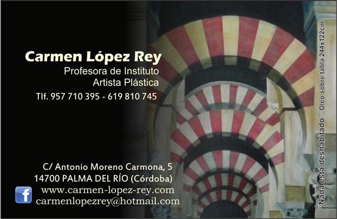 Carmen López Rey, Nada está deshabitado