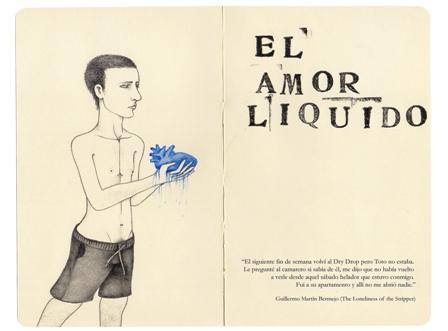 cartel de la exposición El Amor Líquido
