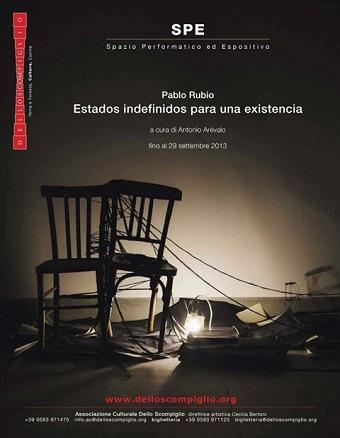 Pablo Rubio, Estados indefinidos para una existencia