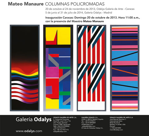 Mateo Manaure, Columnas policromadas