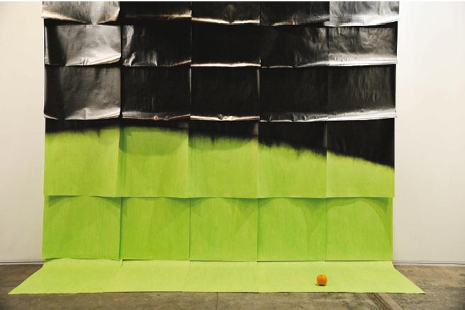 José Hidalgo-Anastacio. Green Gradient with Orange