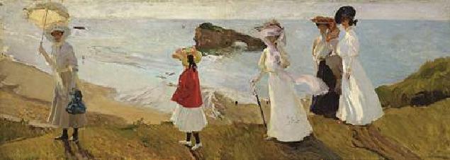 Joaquín Sorolla, Paseo del faro, Biarritz, 1906. Museum of Fine Arts, Boston