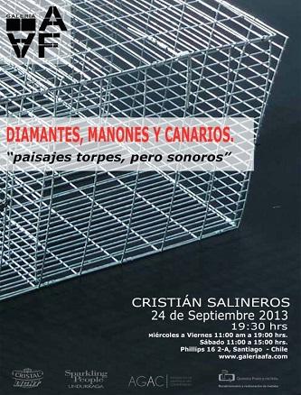 Cristián Salineros, Diamantes, manones y canarios. Paisajes torpes, pero sonoros