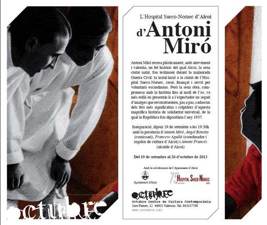 Antoni Miró, L´hospital Sueco-Noruec d´Alcoi