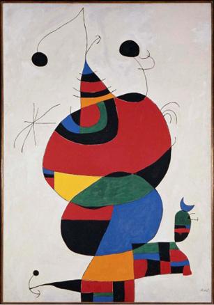 Joan Miró, Mujer, pájaro, estrella -Homenaje a Pablo Picasso-, 1966-1973