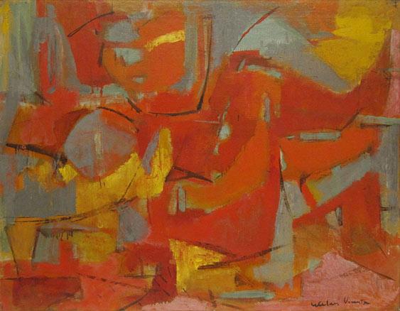 Esteban Vicente, Abstract Female, 1955-1958