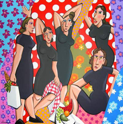 Las hijas de Bernarda Alba, 100 x 100 cm, acrílico s/tela