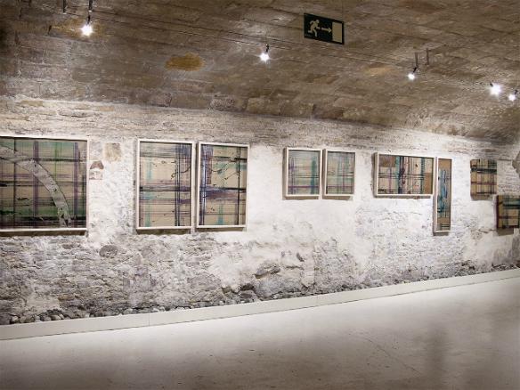 Vista de la exposición Procesos Diversos de Miguel Ángel Encuentra.