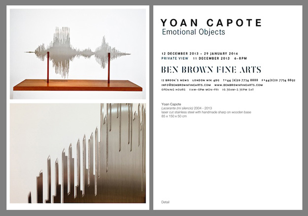 Yoan Capote, Emotional Objects