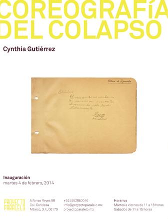 Cynthia Gutiérrez, Coreografía del colapso