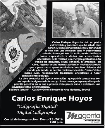 Carlos Enrique Hoyos, Caligrafía Digital