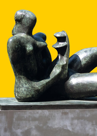 Henry Moore, Madre e hijo reclinados -detalle-, 1975-1976