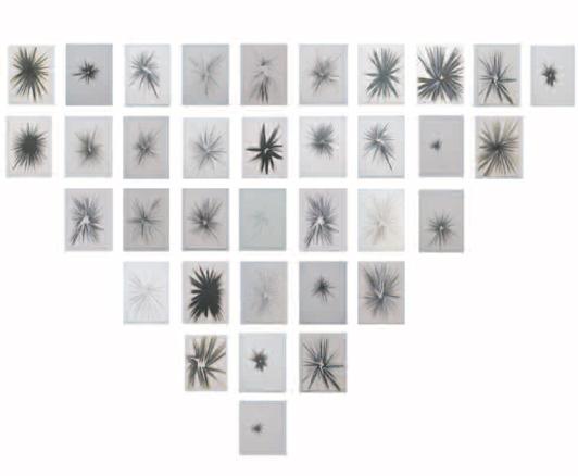 Maite Centol, 35 dibujos de líneas cinéticas radiales, 2013