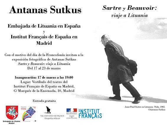 Antanas Sutkus, Sartre y Beauvoir, viaje a Lituania