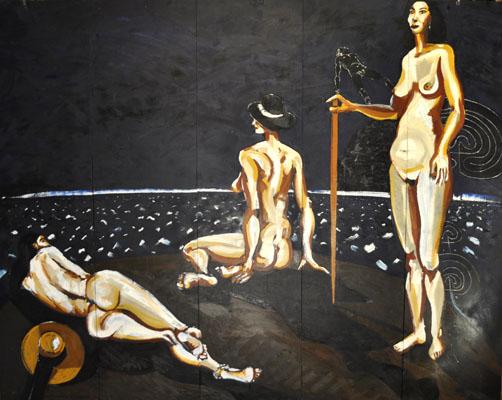 Correa Corredoira, As tres tremendas, 2013, 251x197 cm.