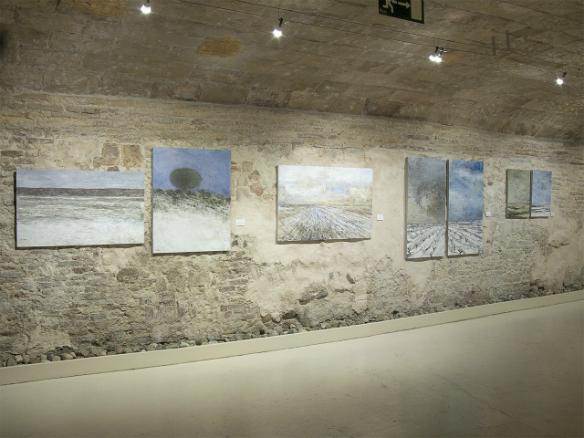 Vista de la exposición Paisajes esenciales de Carlos López.
