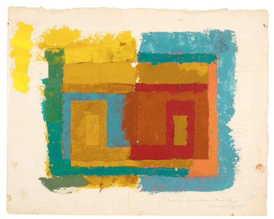 Josef Albers, EStudio para una Variante, c. 1947