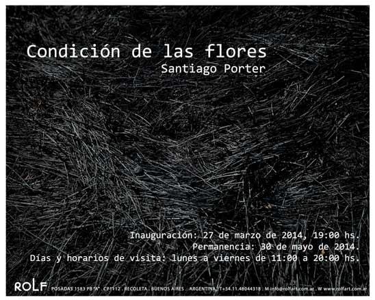 Santiago Porter, Condición de las flores