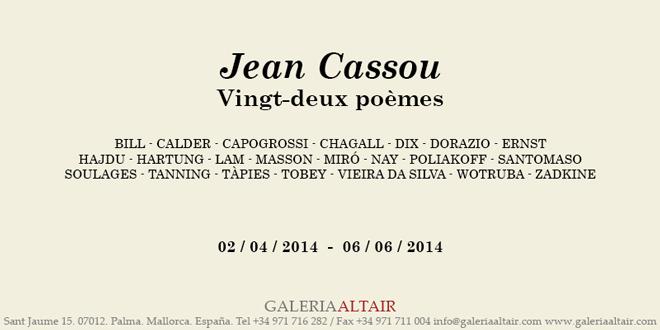 Jean Cassou. Vingt-deux poèmes