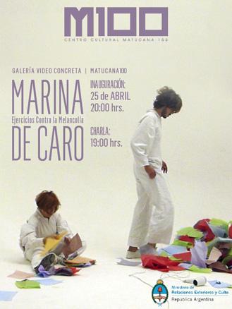 Marina de Caro, Ejercicios contra la melancolía