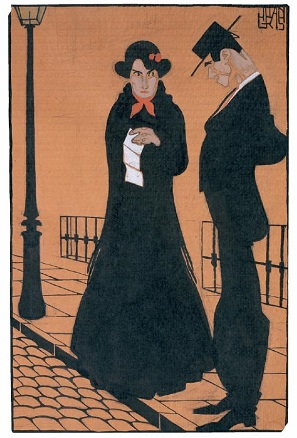 Juan Gris, La carta, vers. 1907-1907