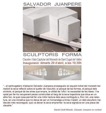 Salvador Juanpere, Sculptoris Forma
