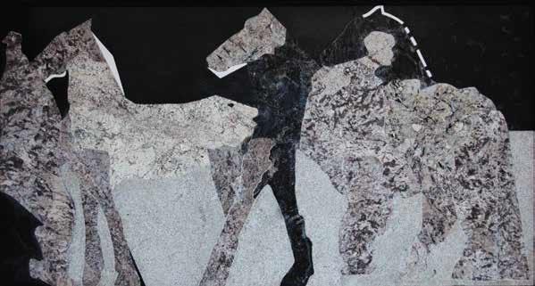 Cristina Santander, Friso con caballos, 2010