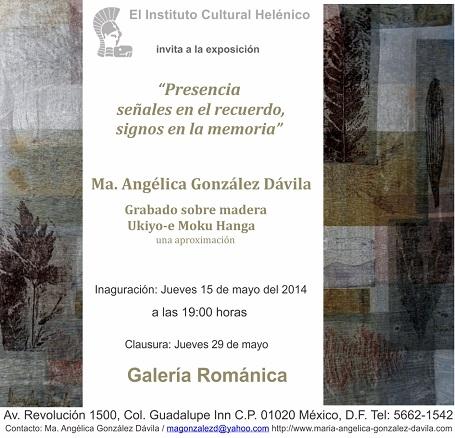 Ma. Angélica González Dávila, Presencia, señales en el recuerdo, signos en...