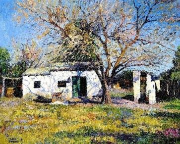Mario Sanzano sol de invierno óleo 60x80 cm