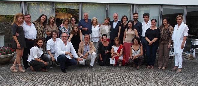 Los artistas en el Museo de Viana do Castelo