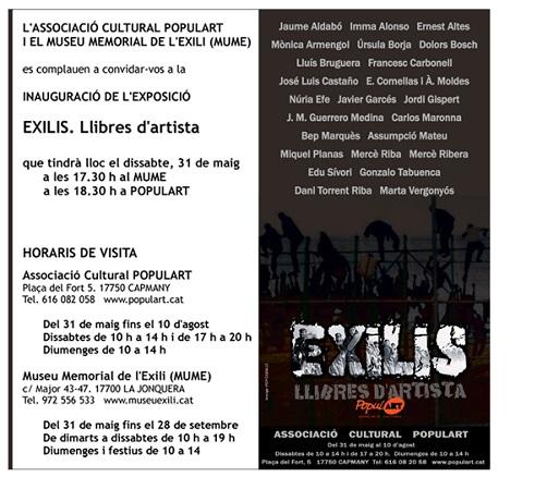 Exilis. Llibres d´artista