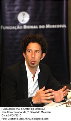 José Roca   El colombiano José Roca, próximo curador de la Bienal del Mercosul